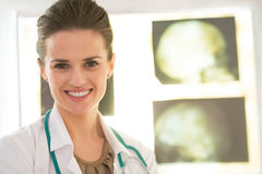 Portrait of smiling medical doctor woman Royalty Free Stock Images