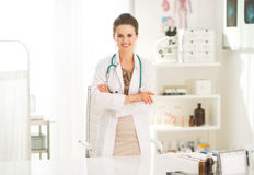 Portrait of smiling medical doctor woman Royalty Free Stock Image