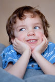 Portrait of smiling  merry boy Royalty Free Stock Image