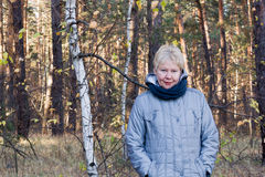 Portrait of a smiling middle-aged woman Royalty Free Stock Photos