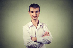 Portrait smiling modern man, creative professional Royalty Free Stock Images