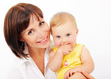Portrait of a smiling mother & baby Royalty Free Stock Photography