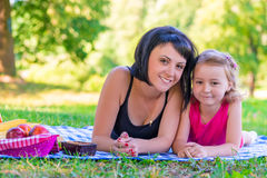 Portrait of a smiling mother and her daughter Royalty Free Stock Photo