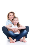 Portrait of smiling mother and young daughter Royalty Free Stock Images