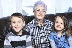 Portrait of smiling multigeneration family Stock Photography