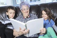 Portrait of smiling multigeneration family Stock Photo