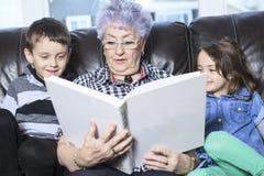 Portrait of smiling multigeneration family Stock Image