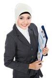 Muslim business woman Stock Image