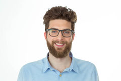Portrait of a smiling nerd man Stock Photography