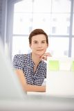 Portrait of smiling office girl Royalty Free Stock Photos