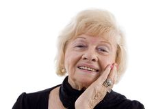 Portrait of smiling old woman Royalty Free Stock Photo