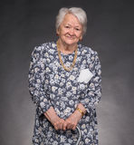 Portrait of smiling old woman Royalty Free Stock Photography
