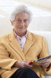 Portrait of a smiling old woman Royalty Free Stock Image