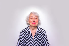 The portrait of a smiling old woman Stock Photo