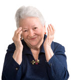 Portrait of smiling old woman Stock Photography