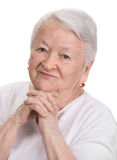 Portrait of smiling old woman Stock Photos
