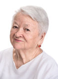 Portrait of smiling old woman Royalty Free Stock Images