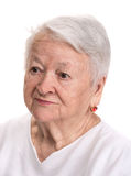 Portrait of smiling old woman Royalty Free Stock Photos