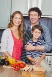 Portrait of smiling parents with son Royalty Free Stock Photography