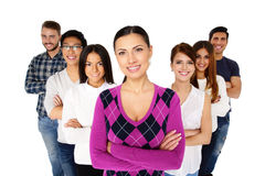 Portrait of a smiling people Stock Image