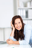 Portrait of a smiling pretty businesswoman Stock Images