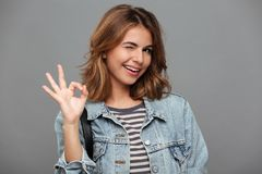 Portrait of a smiling pretty teenage girl Royalty Free Stock Photography