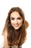Portrait of a smiling pretty young woman Royalty Free Stock Image