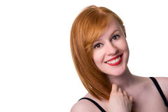 Portrait of smiling redhead Stock Photo