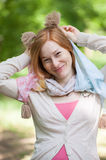 Portrait of a smiling redhead woman Royalty Free Stock Image