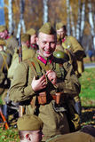 Portrait of a smiling reenactor Royalty Free Stock Photo