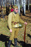 Portrait of a smiling reenactor Royalty Free Stock Images