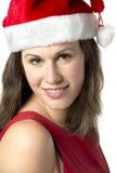 Portrait Smiling Santa Woman Stock Photos