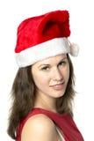 Portrait Smiling Santa Woman Royalty Free Stock Photography