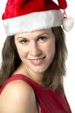 Portrait Smiling Santa Woman Royalty Free Stock Photos