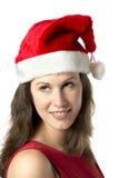 Portrait Smiling Santa Woman Royalty Free Stock Image