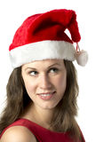 Portrait Smiling Santa Woman Royalty Free Stock Photo