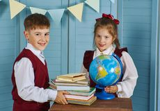 Portrait of smiling school kids Stock Photography