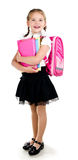 Portrait of smiling schoolgirl with backpack Stock Photography