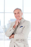 Portrait of a smiling senior businessman Stock Image