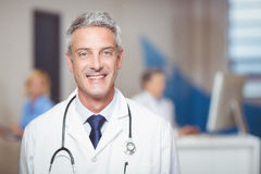 Portrait of smiling senior doctor Royalty Free Stock Photo