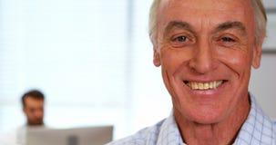 Portrait of smiling senior man stock footage
