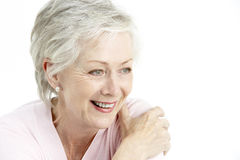 Portrait Of Smiling Senior Woman Stock Images
