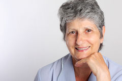 Portrait Of Smiling Senior Woman Stock Image