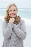 Portrait of a smiling senior woman at beach Stock Photography