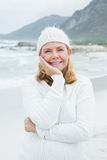 Portrait of a smiling senior woman at beach Royalty Free Stock Photo