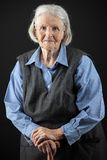 Portrait of a smiling senior woman Royalty Free Stock Images