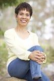 Portrait Of Smiling Senior Woman Outdoors Royalty Free Stock Photos