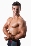 Portrait of a smiling shirtless muscular man Royalty Free Stock Photo