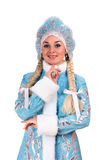 Portrait of a smiling Snow Maiden Stock Photos