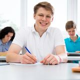 Portrait of smiling student Royalty Free Stock Images